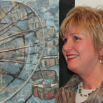 The creative handling of oil paint in 'Memories: Ferris Wheel' won second prize for Lydia Agnew.